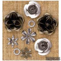Металлические украшения Prima - Finnabair Vintage Mechanicals Metal Trinkets - Roses