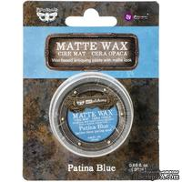 Матовый воск от Prima Marketing - Finnabair Art Alchemy Matte Wax - Patina Blue, 20 мл