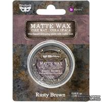 Матовый воск от Prima Marketing - Finnabair Art Alchemy Matte Wax - Rusty Brown, 20 мл