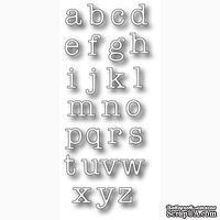 Набор ножей от Memory Box - DIES- Typewriter Lower Alphabet Set