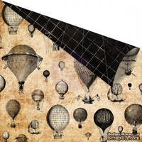 Двусторонний лист бумаги Prima - Cartographer - Montgolfiere, 30 х 30 см
