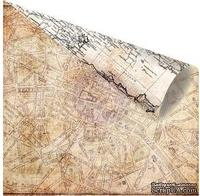Двусторонний лист бумаги от Prima - Cartographer - Marveilleux, 30х30 см