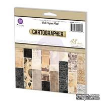 Набор бумаги Prima - Cartographer Paper Pad, 15х15см, 48 л.