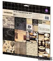 Набор односторонней бумаги от Prima - Cartographer- Collection Kit, 30х30см