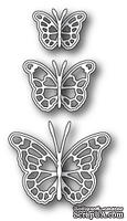 Ножи  от  Memory  Box  -  DIES  -   Leavenworth  Butterfly  Trio