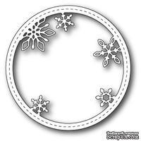Нож для вырубки от Memory Box - Stitched Snowflake Circle Frame