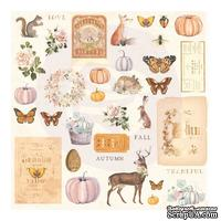 Набор высечек Prima - Autumn Sunset Cardstock Ephemera, 36 штук