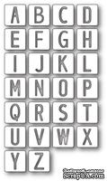 Ножи от Memory Box - Alphabet Tile Letters craft die