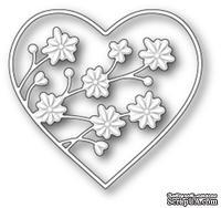 Нож от Memory Box - Drifting Flowers Heart - Сердце с цветами - ScrapUA.com