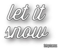 Ножи от Memory Box — Let It Snow Perky Script craft die - ScrapUA.com