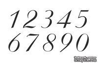 Акриловый штамп A007c Цифры, размер 8х3,5 см
