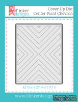 Нож для вырубки от Lil' Inker Designs - Cover Up Die: Center Point Chevron