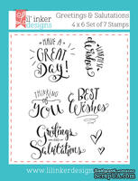 Штампы от Lil' Inker Designs - Greetings & Salutations Stamps