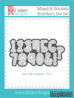 Ножи для вырубки от Lil' Inker Designs - Mixed & Stitched Numbers Die Set
