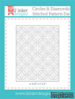 Нож для вырубки от Lil' Inker Designs - Circles & Diamonds Stitched Pattern Die