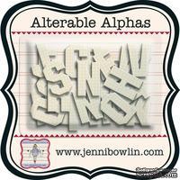 Набор букв из чипборда с рисунком Jenni Bowlin Alterable Alphas - Graph, 36 штук