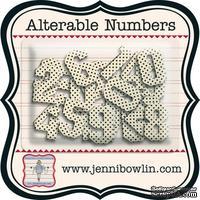 Набор цифр из чипборда с рисунком Jenni Bowlin Alterable Alphas - Numbers, 24 штуки