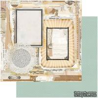 Лист скрапбумаги My Mind's Eye - Ephemera Frames, 30х30 см, двусторонняя