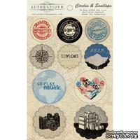 Высечки Authentique - Abroad - Circles & Scallops, 10 штук