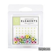 Люверсы от American Crafts - Mini Eyelets — Pastels