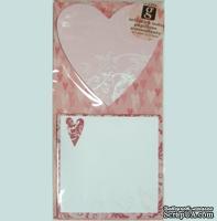 Самоклеющиеся заметки-валентинки от Studio G - Heart with scrolls, 1 шт.