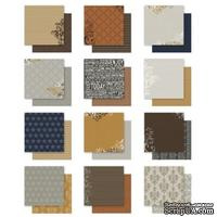 СКИДКА 40%! Набор двусторонней скрапбумаги Project Life by Becky Higgins - 12x12 Designer Paper Collection Pack - Cinnamon Edition, 30х30 см, 24 листа
