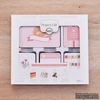 Набор карточек Project Life by Becky Higgins - Core Kit - Baby Girl, 616 штук