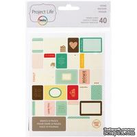 Мини-набор Project Life by Becky Higgins - Themed Cards - Home, 40 шт