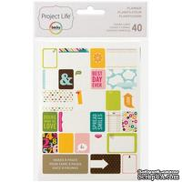 Мини-набор Project Life by Becky Higgins - Themed Cards - Planner, 40 шт