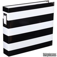Альбом на кольцах Project Life by Becky Higgins - Album - 12 x 12 - Heidi Swapp - Black and White Stripe