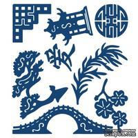 Нож для вырубки от Tattered Lace - Oriental Embellishments - Символы Востока