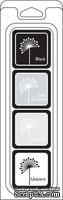 Чернила для штампинга от Hero Arts - Dye Ink Cubes - Blackboard, 4 шт.