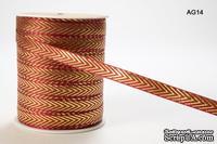 Лента Solid/Metallic, цвет красный/золотистый, ширина 95 мм, длина 90 см