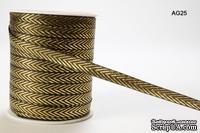 Лента Solid/Metallic, цвет черный/золотистый, ширина 95 мм, длина 90 см