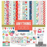 Набор двусторонней скрапбумаги от  Echo Park - Anything Goes, 15х15см, 24 листа