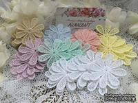 Набор цветочных элементов от Allmacrfat, цвет на выбор, в наборе 4 шт.