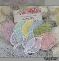 Декор ажурный - Набор листиков от Allmacrfat, цвет на выбор, в наборе 4 шт. одного цвета
