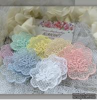Декор ажурный - Мини-салфеточка с вышивкой Allmacrfat, 5х5,5 см,  цвет на выбор, 1 шт.