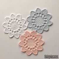 Декор ажурный - цветочный от Allmacrfat, цвет на выбор, 6 см, 1 шт