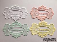 """Декор от Allmacrfat - Вензель с вышитой надписью """"Принцесса"""", цвет на выбор, 1 шт"""