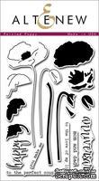 Набор акриловых штампов от Altenew - Painted Poppy, 19,5 x 11 см, 18 шт
