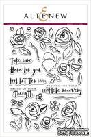 Набор штампов от Altenew - Bamboo Rose Stamp Set- Бамбуковая роза