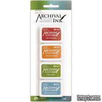Набор архивных чернил Ranger - Wendy Vecchi - Mini Archival Ink Pads - Kit 4
