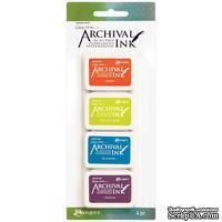 Набор архивных чернил Ranger - Wendy Vecchi - Mini Archival Ink Pads - Kit 6 - ScrapUA.com