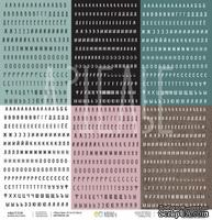 Бумага для скрапбукинга от Артелье - Много букв, 30,5х30,5 см