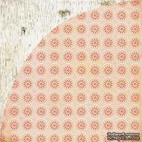 Лист скрапбумаги Basic Grey - Aspen Frost - Open Sleigh, 30х30 см, двусторонняя