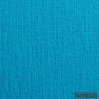Дизайнерский картон с фактурой льна Sirio tela turchese, размер: 30х30 см, цвет: голубой, плотность: 290 г/м2, 1 шт