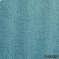 Дизайнерский картон с фактурой вельвета Nettuno oltremare, размер: 30х30 см, цвет: аквамарин, плотность: 280 г/м2, 1 шт