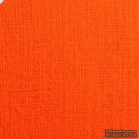 Дизайнерский картон с фактурой льна Sirio tela arancio, 30х30, оранжевый, 290 г/м2, 1 шт