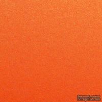 Дизайнерский картон с металлизированным эффектом Sirio pearl orange glow, размер:30х30 см, цвет: оранжевый, плотность: 300 г/м2, 1 шт